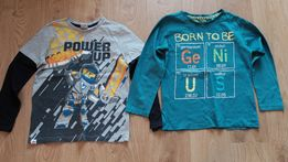 2x bluzka bluza 134 cool club