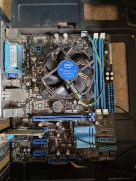 I5 2500k with ASUS P8H61-M LX Motherboard, no RAM