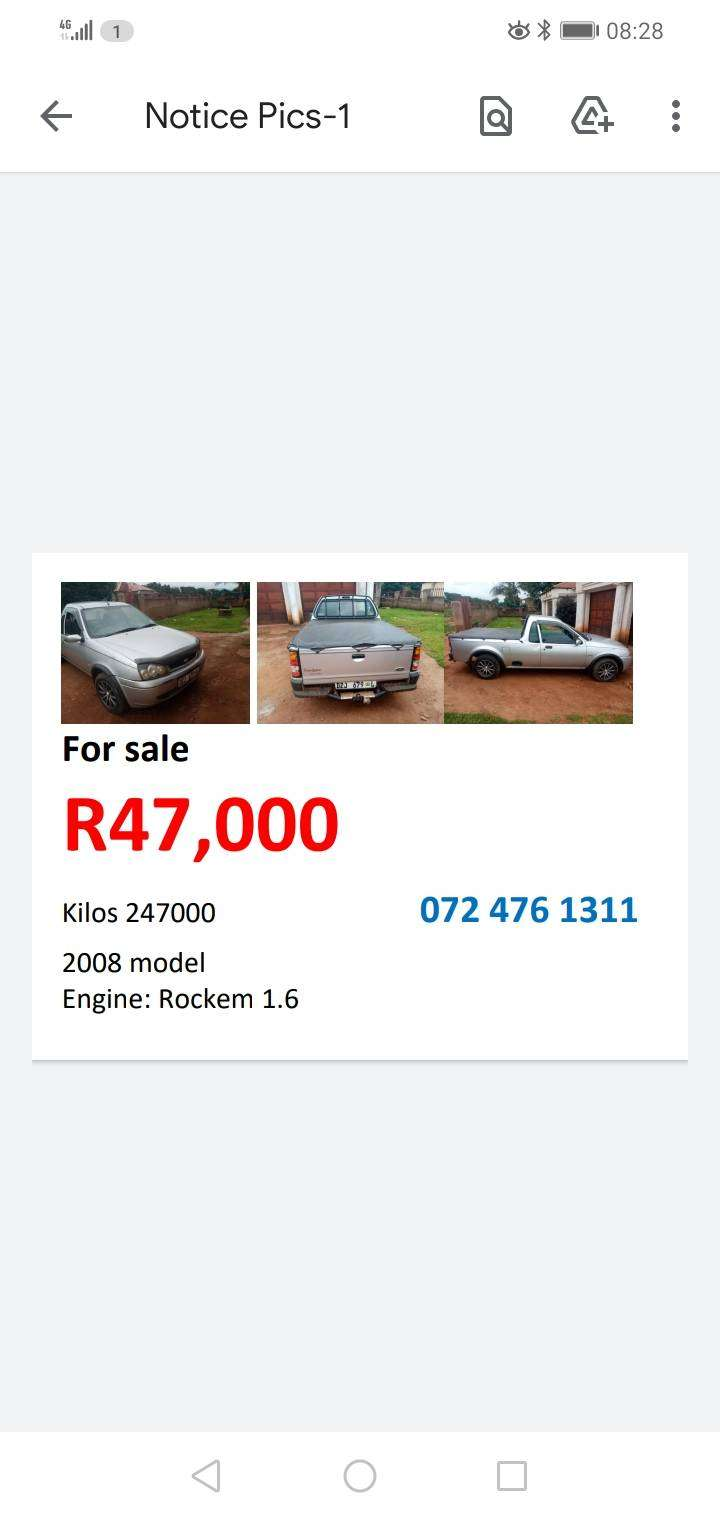Bakkie for sale, start and go!