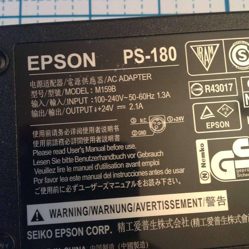 Epson PS-180 AC Adapter Power Supply M159B 0