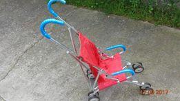 Wózek składany parasolka czerwony nowy