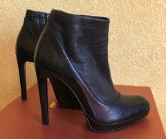 Ботинки ботильоны черные кожа Baldinini размер 37