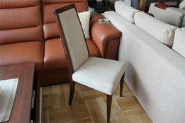 Krzesła krzesło Bydgoskie Meble K 1702 -15% J1 dąb czek. tk. beż
