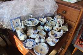 Various glass delft ware