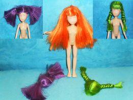 Unikatowa lalka barbie Mattel do malowania i kolorowe peruki dla lalki