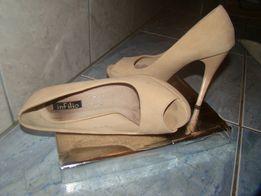 Buty z odkrytymi palcami w kolorze beżu roz. 36