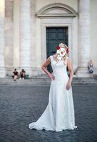 Свадебное платье в испанском стиле