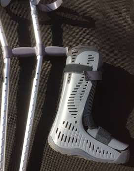 Medium Moon Boot with Crutches (optional)