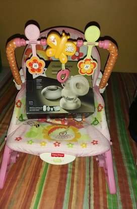 Electric breast pump and baby rocker