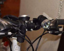 Велофара/налобный фонарь с питанием от USB на диоде CREE T6