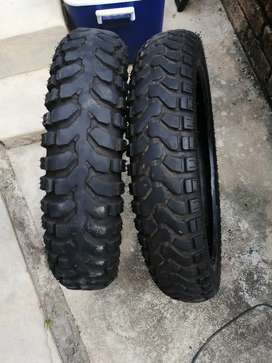 Set of semi off-road tyres