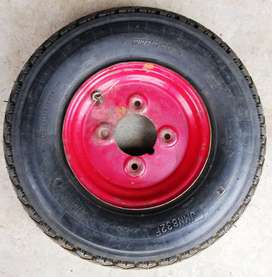 Dunlop Tyre on Rim - 4.00x8 4-Ply (Made in South Africa)