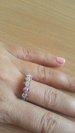 Кольцо серебро с камнями Swarovski