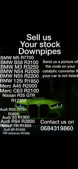 We buy your stock down pipes
