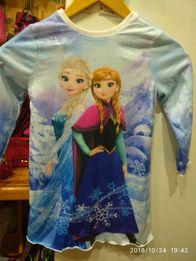 Платье с Анной и Эльзой