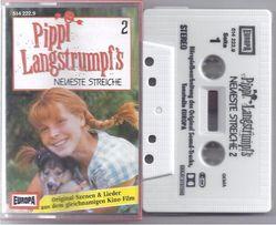 Аудиокассета - аудиоспектакль Пеппи Длинный Чулок на немецком языке