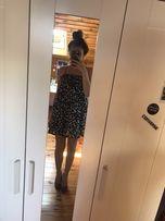 Sukienka primark XS 34 ubrania czarno biała kokardki Anglia damskie