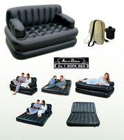 Надувной диван 5в1 двухспальный с насосом 1021