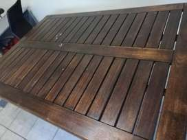 African garden furniture solid wood table