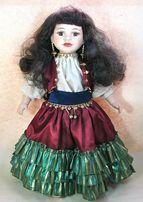 Кукла фарфоровая коллекционная париковая Цыганка 43 см Клеймо