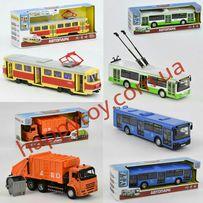 Автобус, трамвай, троллейбус, мусоровоз Play Smart Автопарк, звук,свет