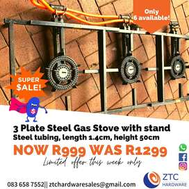 3 plate Cast Iron Gas Stove