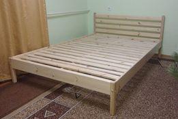 Ліжко дерев'яне, кровать деревянная. Без викрутасів, одне бильце