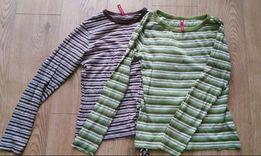 Zestaw 2 bluzki Carry w paski z długim rękawem r. S