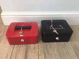 Two money boxes