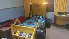 Kids construction truck bed