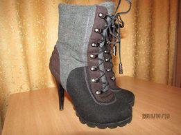 Ботиночки зимние из войлока на каблуке