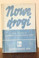 Nowe Drogi październik 1956 - powrót Gomułki