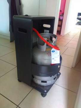 gas heater and full bottle