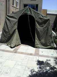 Image of Campmaster canvas tent and extension