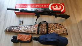 Kral Puncher Mega PCP .22 Air Rifle and Accessories