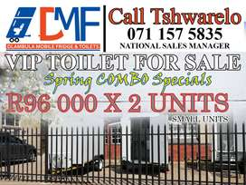 Mobile VIP Toilets For Sale. Combo Special
