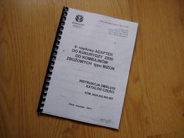 Katalog części przystawka 4 rzędowa do kukurydzy Z930 Bizon, Oros 4023