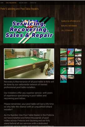Pool table services and supplies around south Africa