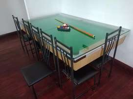 Pool Table and dinning chairs