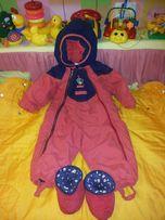 Зимние костюмы комбенизон овчина синтапон флис мех детский до 3лет