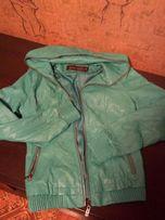 XS/S 40/42 Куртка ветровка деми новая кожзам весна осень