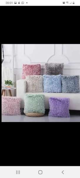 Fluffy carpets and cushions
