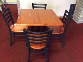 1 cherry wood table plus 4 cherry wood chairs