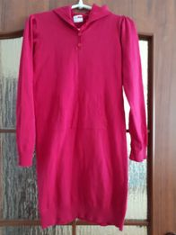 Sukienka, tunika z dzianiny; roz. 140/146 cm; NAME IT