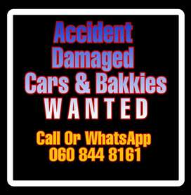 Contact me immediately if you looking to sell a Damaged Car