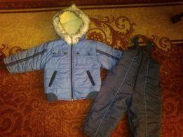 Зимний комбинезон-костюм на мальчика 80размер