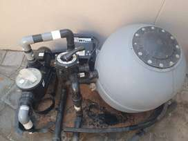 Pool pump and 2 solar panels for sale price neg
