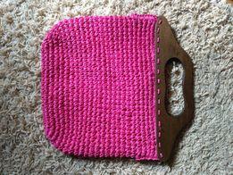 Соломенная плетеная сумка