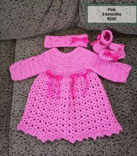 Crochet baby dress sets to order