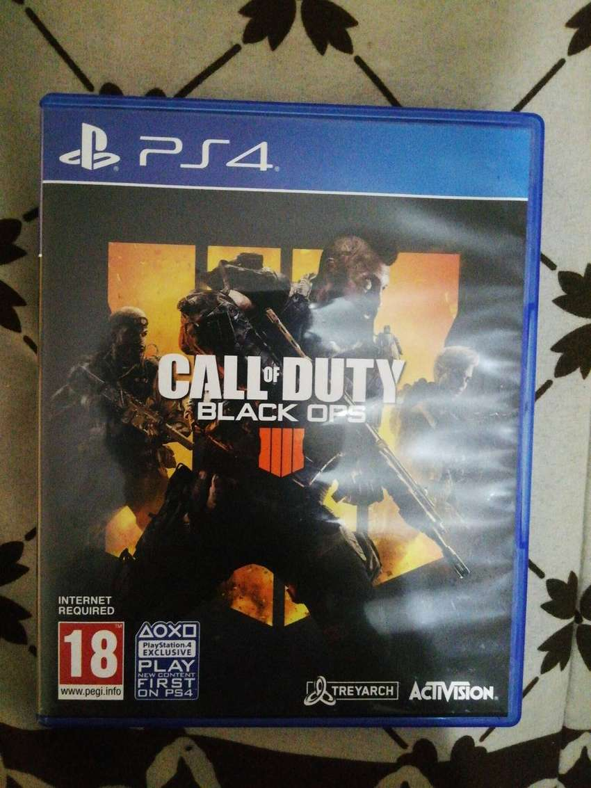 Ps4 game. CALL OF DUTY BLACK OPS 4 0
